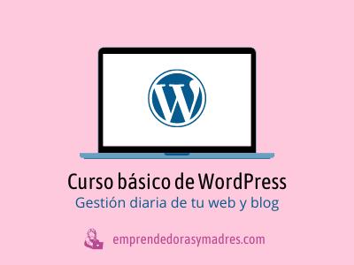Curso WordPress básico - gestionar tu web